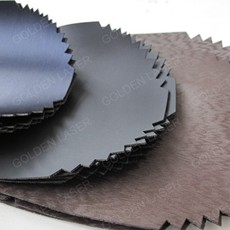 laser cutting leather with clean edges