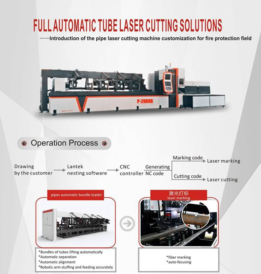 tube laser cutting for fire pipeline